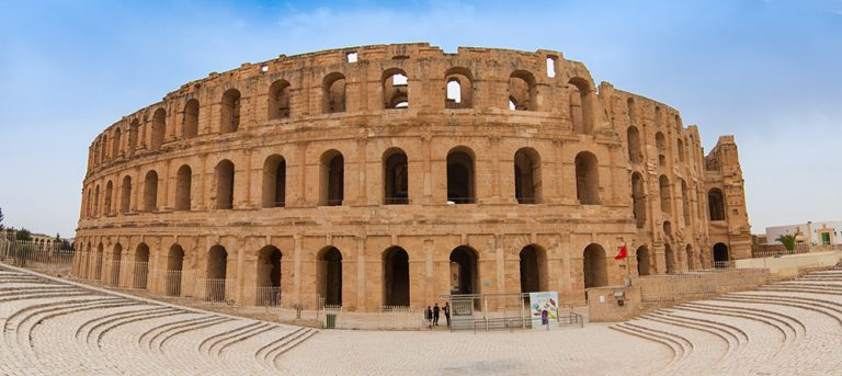 Amphitheater Panorama  El Djem