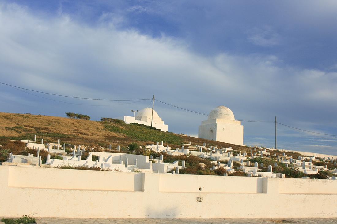 Mahdia Friedhof mit Marabout