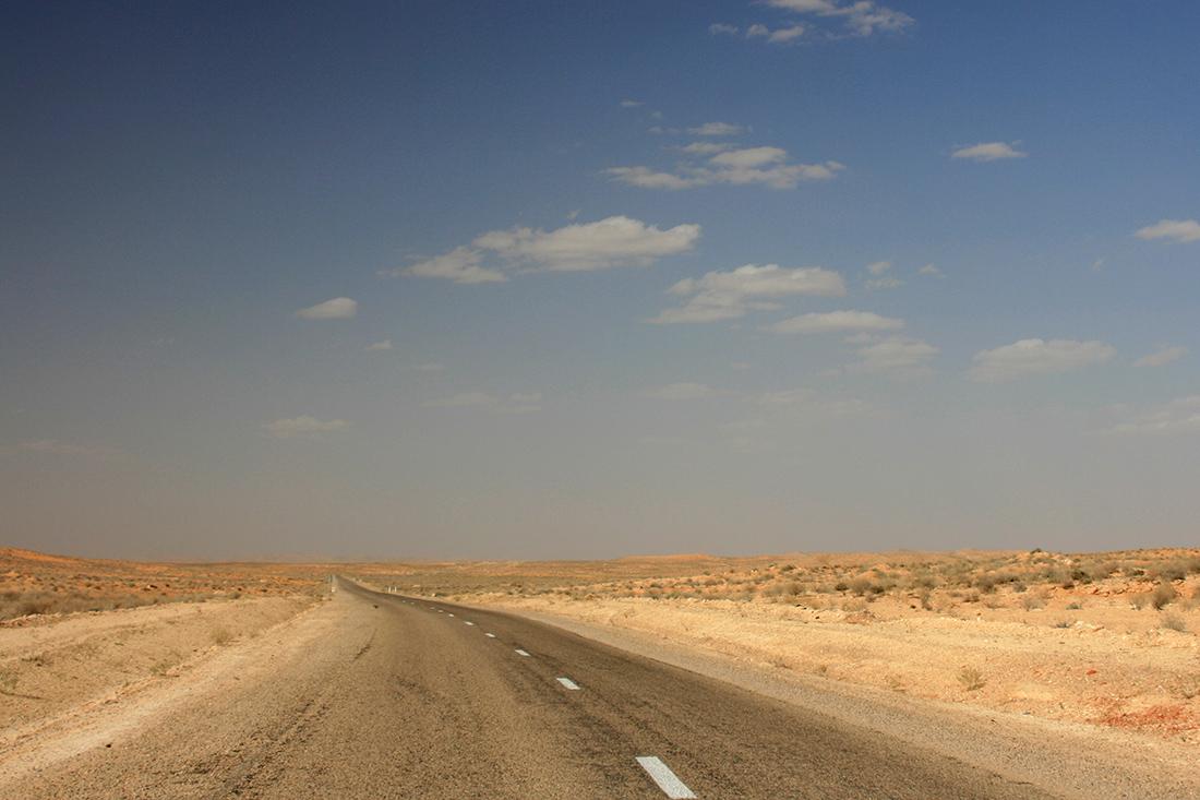 Straße Steppe Wüste